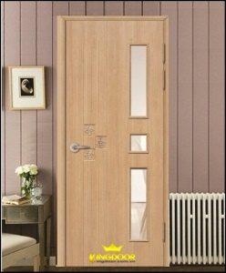Giá trọn bộ cửa nhựa giả gỗ ABS bao gồm: cánh + khung bao + nẹp chỉ + sơn hoàn thiện.