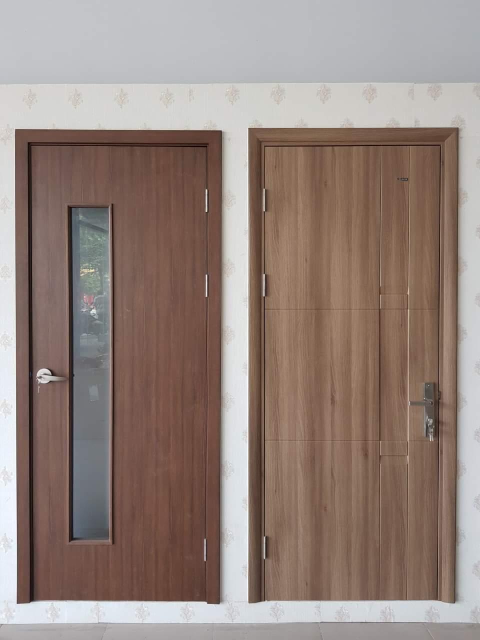 Mẫu cửa nhựa giả gỗ : 202 -W0901 (Ảnh bên trái) | 116- K1129 (Ảnh bên phải )