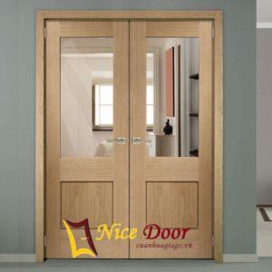 cửa gỗ kính ND-2K-2V