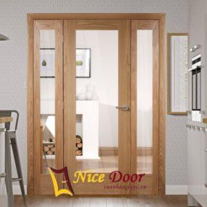 Cửa gỗ kính ND - 3A- 1L-2N