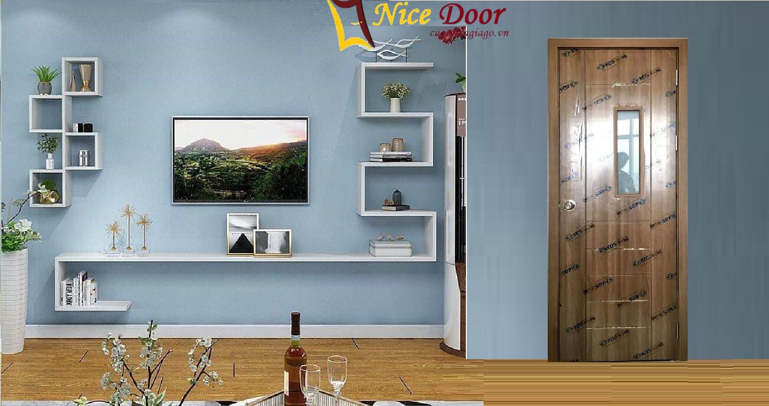 mẫu cửa nhựa gỗ giá rẻ